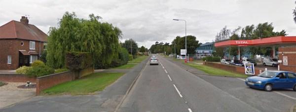 The crash happened on Sleaford Road in Bracebridge Heath. Photo: Google Street View