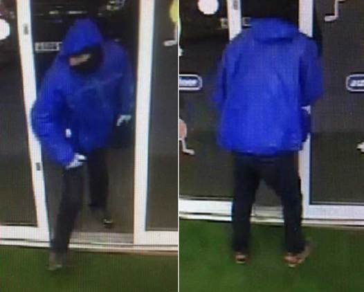 CCTV images of the suspect in the robbery at the Co-op on Station Road in Branston on March 18, 2016