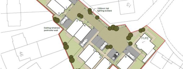 Plans for the new homes on the site of the former depot