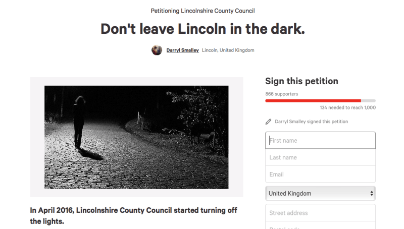 Almost 200 people signed the petition in under 24 hours.