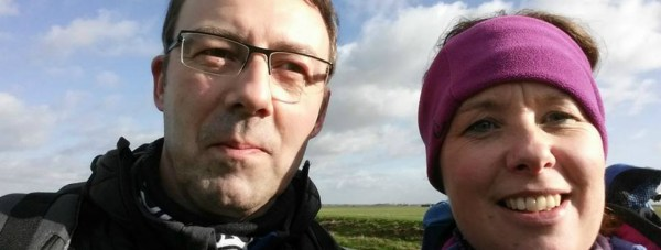 The duo will walk 62 miles in 24 hours in aid of Blind Veterans UK Photo: ODP Trekkers 2 Facebook Page