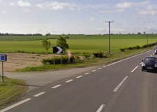 The A15 at Brauncewell Church. Photo: Google Street View