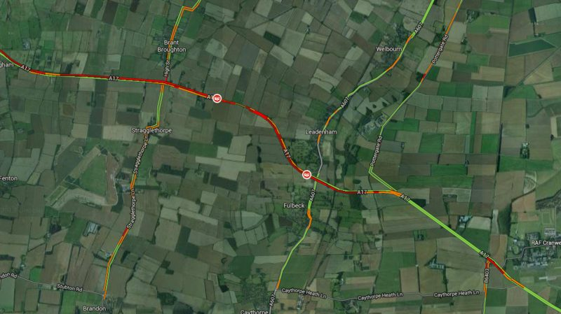 A section of the A17 will be closed for some time following the collision.