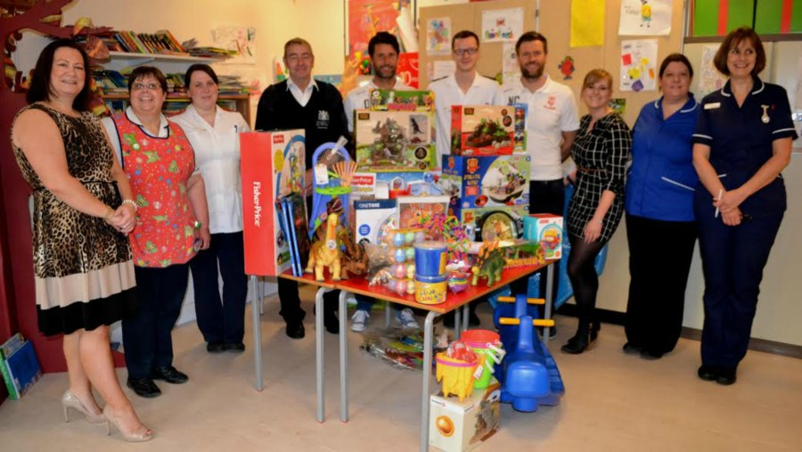 Children on the Rainforest ward at Lincoln County Hospital benefitted from a donation of £1,000 of new toys