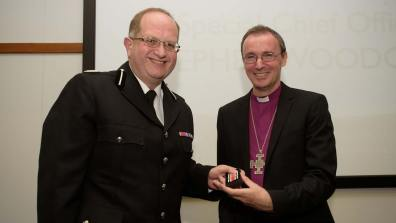 Special Chief Officer Stephen Woodcock awarded for 29 years of service. Photo: Steve Smailes for The Lincolnite