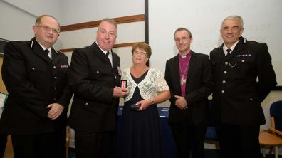 Special Inspector Trevor Cox was awarded the19 Year Bar. Photo: Steve Smailes for The Lincolnite