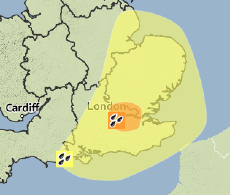 Met Officer weather warnings are in place for Thursday and Friday.
