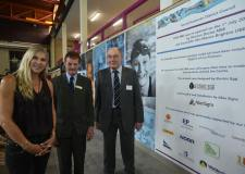 (L-R) Sharron Davies MBE, Councillor Mike Gallagher and Councillor John Money opening One NK on Friday, July 1 Photo: Steve Smailes for The Lincolnite