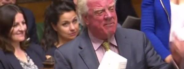 Gainsborough MP Sir Edward Leigh at PMQs on July 20