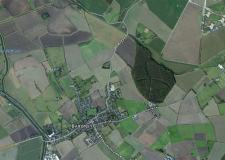 The crash happened near Bardney on Saturday at around 12.30pm. Map: Apple