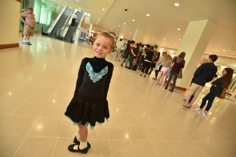 Irish dancer Ruby Cross auditioning for Britain's Got Talent at Waterside in August. Photo: Steve Smailes for The Lincolnite