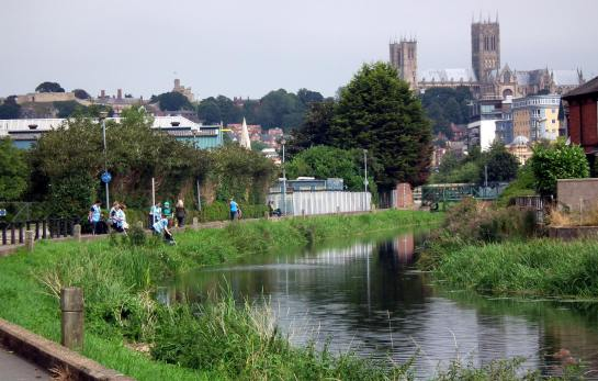 The banks of the River Witham were cleared by River Care volunteers. Photo: River Care