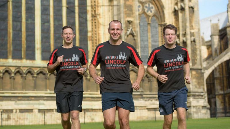 The trio will run a total of 91.7 miles. Photo: Steve Smailes for The Lincolnite