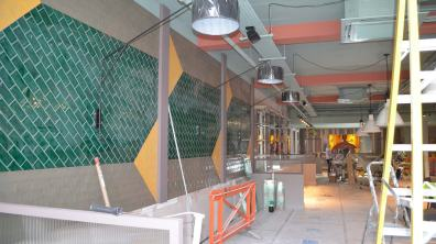 The walls of the new restaurant have got a fresh new look. Photo: Sarah Harrison-Barker for The Lincolnite