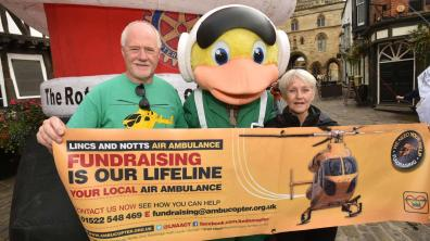 Lincolnshire and Nottinghamshire Air Ambulance. Photo: Steve Smailes for The Lincolnite