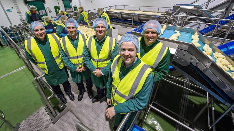 Branston Ltd launch its new potato peeling factory.