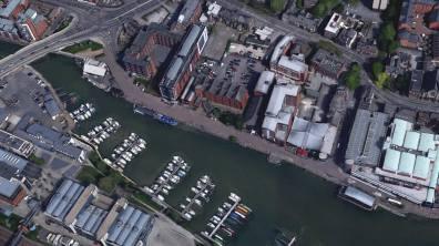 Brayford Pool. Photo: Google Earth
