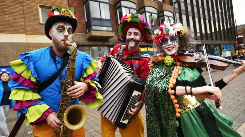 The festival was inspired by the annual Day of the Dead Mexican holiday. Photo: Steve Smailes for The Lincolnite
