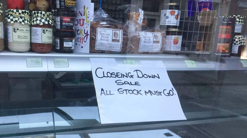 A sign announcing the business would be closing appeared this week.