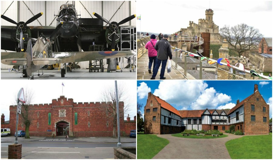 Council funding would be withdrawn from sites including Lincoln Castle, Gainsborough Old Hall, Museum of Lincolnshire Life and the Battle of Britain Memorial Flight Centre.