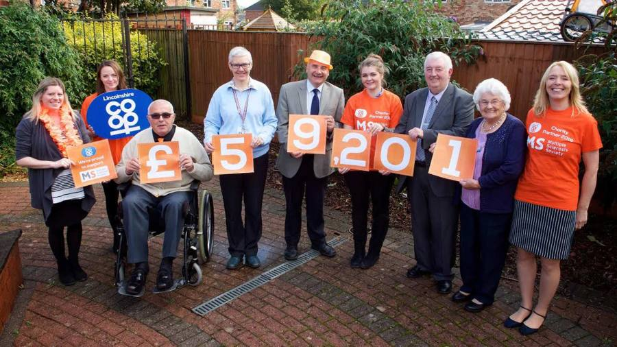 In total, Lincolnshire Co-op raised £59,201 for the MS Society.