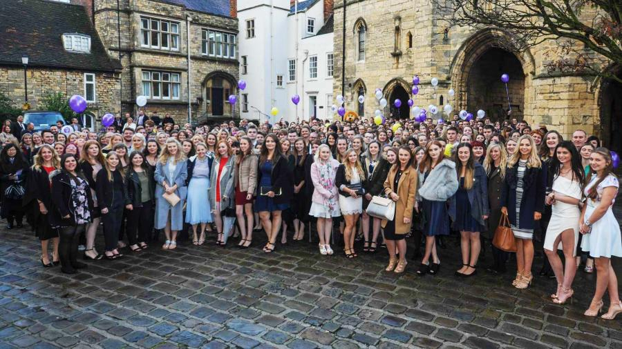Students gathered at the Matriculation Ceremony, which took place on Monday, October 10.