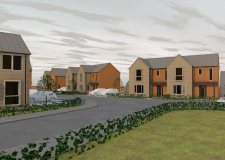 Artist impressions of the 39 new homes on the former Ermine school site: Halsall Lloyd Partnership Architects and Designers