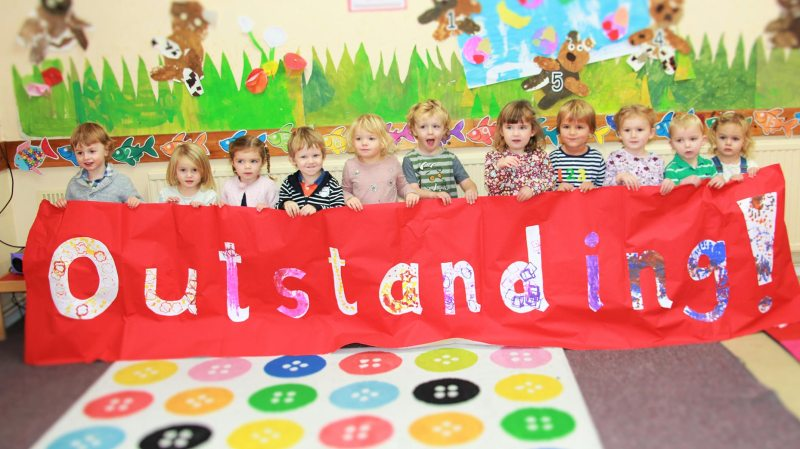 Staff and children have been celebrating their outstanding Ofsted report.