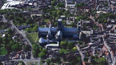 Lincoln Cathedral. Photo: Google Earth