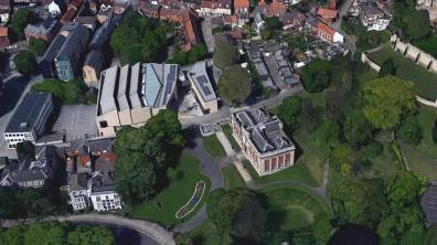 The Collection and Usher Gallery. Photo: Google Earth