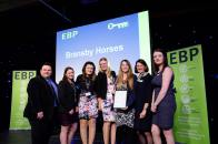 Bransby Horses collect their award from guest speaker David Hyner, left, Elaine Lilley, chief executive of The EBP, second in from right, and Kayleigh Wells, The EBP's work experience co-ordinator, right. Picture: Chris Vaughan