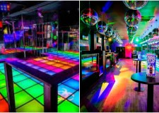 The Fever Bar in Cheltenham is known for its technicolour light-up dance floor and retro theme.