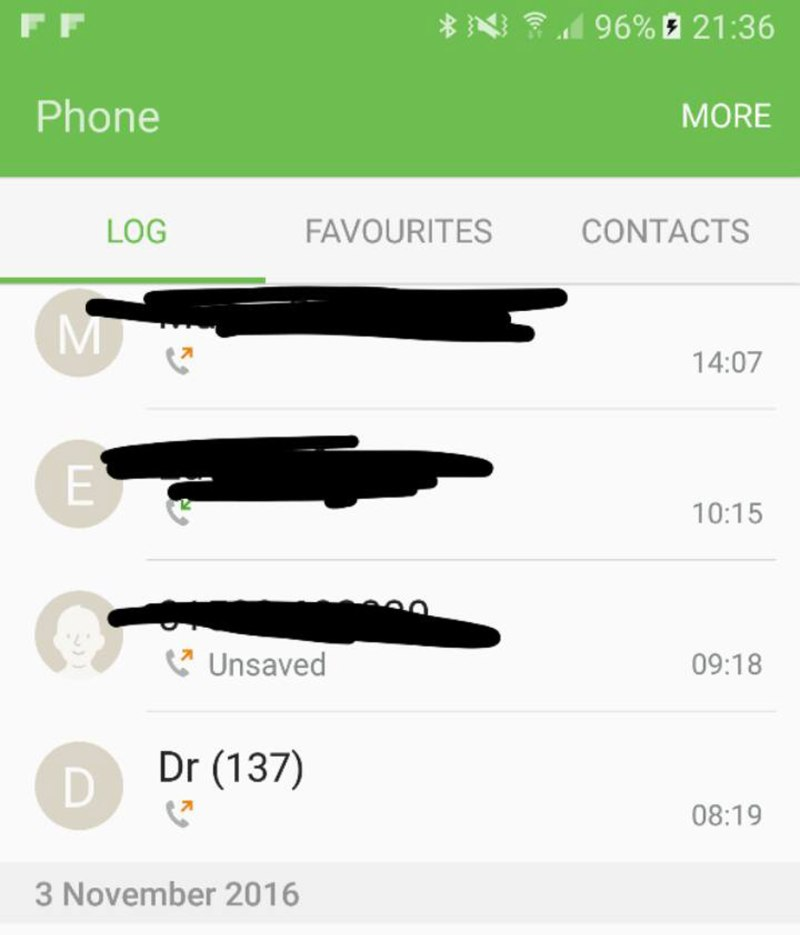 Call history sent to The Lincolnite by reader Kirsty Addlesea, who claimed she was unable to reach her GP Birchwood Medical Practice.