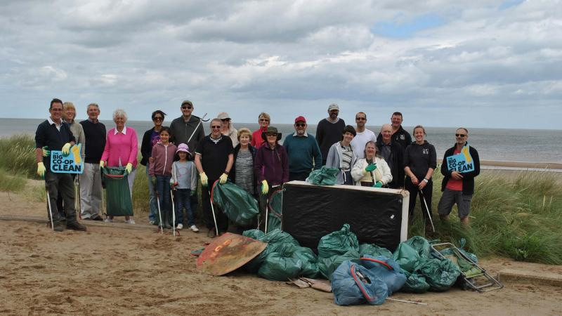 Lincolnshire Co-op staff and members took part in clean up events across the area, including at Huttoft Beach near Chapel St Leonards.