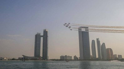 The Red Arrows performing in Abu Dhabi. Photo: Red Arrows