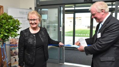 Jeanette Dawson OBE, Principal and Chief Executive of Riseholme College and Gainsborough MP Sir Edward Leigh opening the new facility. Photo: Steve Smailes for The Lincolnite