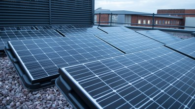 The Boole Technology Centre's rooftop include solar panels. Photo: Steve Smailes for The Lincolnite