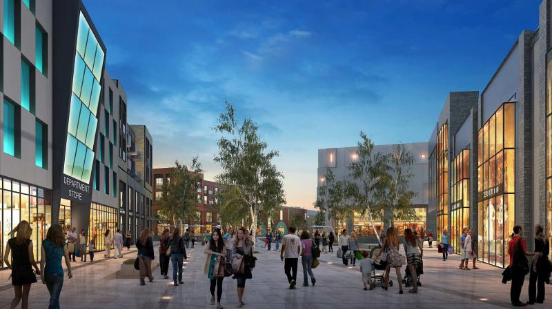 The first designs for the new Lincoln St Marks development, including shops, a hotel and accommodation.