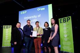 University of Lincoln collect their award from guest speaker David Hyner, left, Elaine Lilley, chief executive of The EBP, second in from right, and Kayleigh Wells, The EBP's work experience co-ordinator, right.Photo: Chris Vaughan Photography for The EBPDate: November 8, 2016