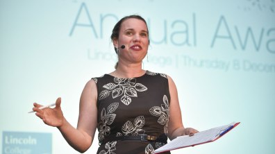 BBC Radio Lincolnshire Presenter Nicola Gilroy hosted the evening. Photo: Steve Smailes for The Lincolnite