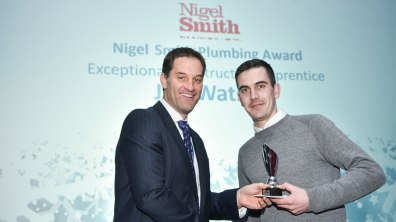 Winner of Exceptional Construction Apprentice award, Jon Watson. Photo: Steve Smailes for The Lincolnite