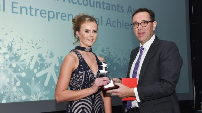 Winner of Exceptional Sport & Service Sector Apprentice and Student of the Year Streets Chartered Accountants Award for Exceptional Entrepreneurial Achievement, Shannon Webster. Photo: Steve Smailes for The Lincolnite