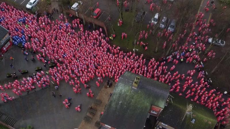 Over 2,500 Santas took part, raising money of a range of charities. Photo: Kurnia