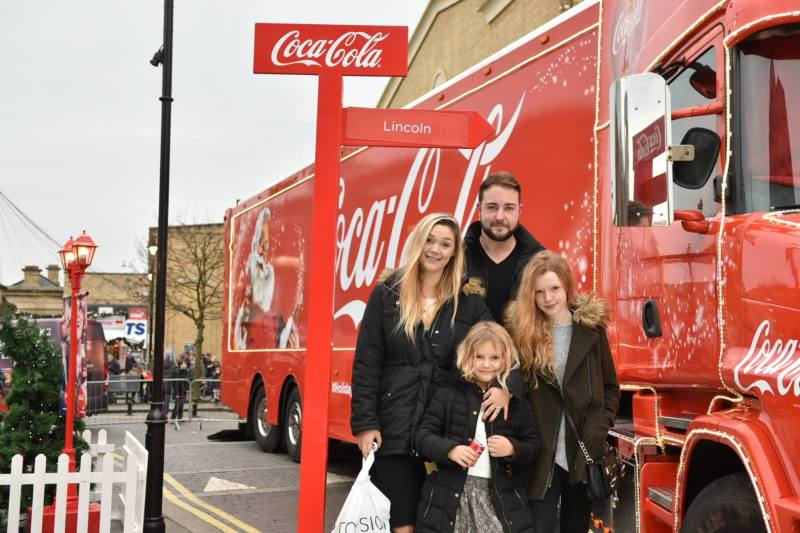 You can have your photo taken with the Coca Cola Christmas truck in Lincoln. Photo: Steve Smailes for The Lincolnite