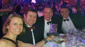 Inzpire staff at the Sunday Times Best Small Companies to Work for Awards Ceremony.