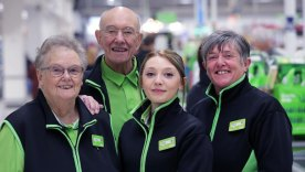 Three generations of the Wilkins/Morris family all work at Asda in North Hykeham