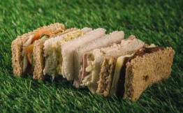 Afternoon tea will include a variety of sandwiches served on Granary Bread