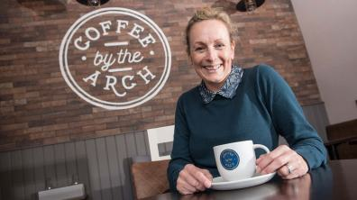 Coffee shop owner Simone Wilson. Photo: Steve Smailes for The Lincolnite