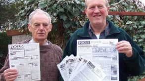 With Cllr Wallace Lee and some examples of the FOCUS newsletter we delivered regularly since 1986.
