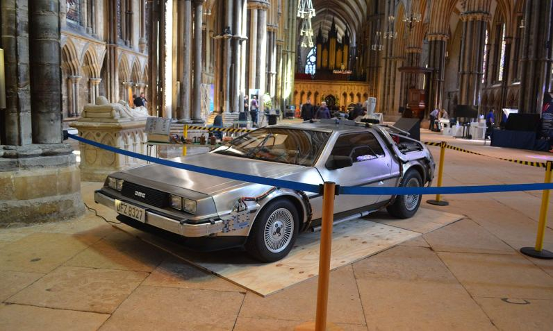 Recreation of Doc Brown's Delores time machine from the Back to the Future films – owned by Jason Bradbury